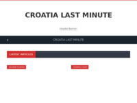 Frontpage screenshot for site: Croatia Lastminute (http://www.croatia-lastminute.com/)