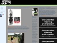 Frontpage screenshot for site: Artizana (http://artizana.hr)