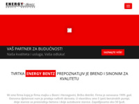 Frontpage screenshot for site: Energy bentz d.o.o. Gospić (http://www.energy-bentz.hr)
