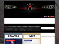 Frontpage screenshot for site: Domoljubni portal Crne Mambe (http://crnemambe.hr)