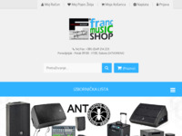 Frontpage screenshot for site: Franc music shop (http://franc-music-shop.com/)