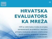Frontpage screenshot for site: Evaluacija (http://www.evaluacija.hr)