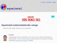 Slika naslovnice sjedišta: Awuainstal - vodoinstalaterske usluge Varaždin (http://www.aquainstal-dakovic.hr)