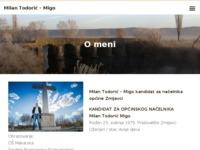Frontpage screenshot for site: Milan Todorić – Migo – Novi Zmijavčani za nove Zmijavce (http://www.milan-todoric.from.hr)