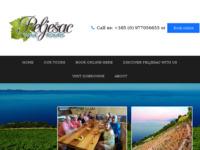 Frontpage screenshot for site: Peljesac Vinska Tura (http://peljesacwinetours.com/)