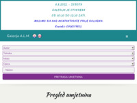 Frontpage screenshot for site: Galerija A.L.M. (http://alm.hr/)