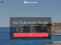Frontpage screenshot for site: Dubrovnik Guide - Najbolje od Dubrovnika (http://www.godubrovnik.guide/)