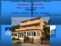 Frontpage screenshot for site: Apartmani Smojver, Rab, Hrvatska (http://rab-apartmani-smojver.com)