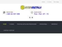 Frontpage screenshot for site: (http://www.intermetali.hr/)
