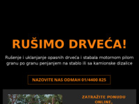 Frontpage screenshot for site: Rušenje Drveća Zagreb - Rušenje opasnog drveća Zagreb i okolica (http://www.rusenjedrveca.com)