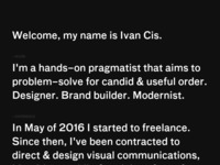 Frontpage screenshot for site: Cis design - vl. Ivan Čiš (http://cisdesign.hr)