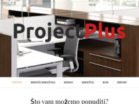 Frontpage screenshot for site: ProjectPlus, vl. Goran Krstičević (http://projectplus.com.hr)