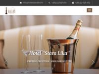 Frontpage screenshot for site: Hotel Stara Lika (http://www.hotelstaralika.hr)
