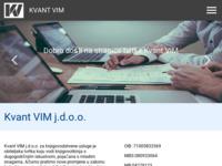 Frontpage screenshot for site: (http://kvantvim.hr/)
