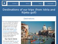 Frontpage screenshot for site: Brodski izleti u Istri. Venecija i ostali izleti brodom. (http://excursions-heju.com/)