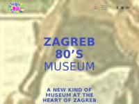 Frontpage screenshot for site: Muzej - Zagreb 80s (http://www.zagreb80.com)