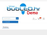Frontpage screenshot for site: LED rasvjeta - bubLED.hr Akcijske cijene LED rasvjete (http://bubled.hr)