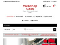 Frontpage screenshot for site: Webshop CX80 (http://webshop.exol-trade.eu/)