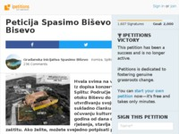 Frontpage screenshot for site: Peticija Spasimo Biševo od betoniranja (http://www.ipetitions.com/petition/spasimo-bisevo-od-betoniranja)