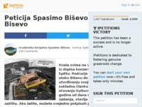 Slika naslovnice sjedišta: Peticija Spasimo Biševo od betoniranja (http://www.ipetitions.com/petition/spasimo-bisevo-od-betoniranja)
