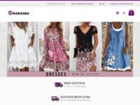 Frontpage screenshot for site: Manzara - Odjeća Online - TOP Akcijske Cijene (http://www.manzara.hr)
