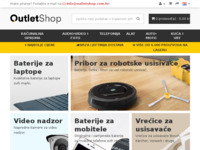 Frontpage screenshot for site: OutletShop.com.hr (http://www.outletshop.com.hr/)