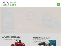 Frontpage screenshot for site: (http://profiagro.hr)
