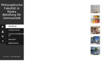 Frontpage screenshot for site: Odsjek za germanistiku Sveučilišta u Rijeci (http://germanistika.uniri.hr)