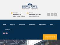 Frontpage screenshot for site: Prima Navis - Brodogradnja & Inženjering (http://www.primanavis.hr)