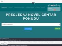 Frontpage screenshot for site: NovelCentar - Xerox, Riso (http://www.novelcentar.hr)