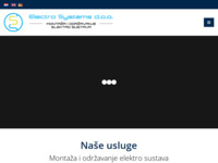 Frontpage screenshot for site: Electro Systems d.o.o. - Montaža i održavanje elektro sustava (http://elesys.hr/)