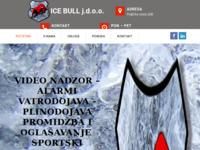 Slika naslovnice sjedišta: Ice bull j.d.o.o. – Tehnička zaštita, sport i oglašavanje (http://icebull.eu)