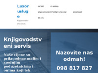 Frontpage screenshot for site: (http://luxor-usluge.hr)