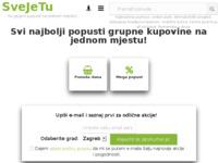 Frontpage screenshot for site: Svi popusti, sniženja i akcije na jednom mjestu. Sve je tu! (http://www.svejetu.hr)