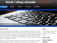 Frontpage screenshot for site: Servis laptopa Zagreb - olegon.hr (http://www.olegon.hr/olegon/)
