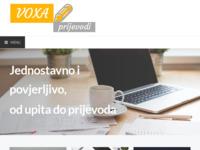 Frontpage screenshot for site: Mi prevodimo - VOXA prijevodi - sudski tumači, prevoditelji (http://www.voxa-prijevodi.hr/)
