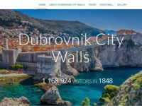 Frontpage screenshot for site: Dubrovačke zidine - Vodič po zidinama (http://dubrovnik-city-walls.com/)