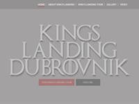 Frontpage screenshot for site: Kings Landing Dubrovnik - Tours, Attractions, Information Guide (http://kingslanding-dubrovnik.com)