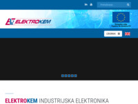 Frontpage screenshot for site: Elektrokem industrijska elektronika (http://elektrokem.hr/)
