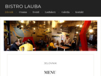 Frontpage screenshot for site: Bistro Lauba – Are you hungry for art? (http://bistrolauba.hr)