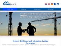Frontpage screenshot for site: DOM MAX izgradnja obiteljskih kuća i nestambenih zgrada (http://dom-max.hr)