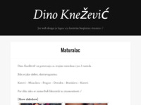Frontpage screenshot for site: Dino Knežević - Jer web design je lagan a ja koristim besplatnu stranicu :/ (http://dinoknezevic.from.hr)