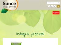 Slika naslovnice sjedišta: Sunce Webshop - BIO Proizvodi (http://sunce-snaga-prirode.hr/)
