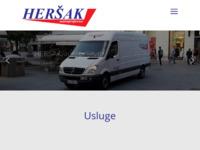 Slika naslovnice sjedišta: Heršak, obrt za prijevoz tereta (http://hersak.hr/)