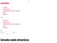 Slika naslovnice sjedišta: SOHOBITS - izrada web stranica i digitalni marketing (http://www.sohobits.hr)