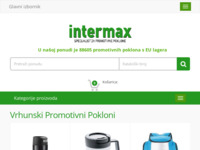 Frontpage screenshot for site: Intermax - Specijalist za promotivne proizvode (http://intermax.hr/)