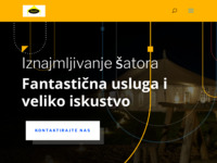 Frontpage screenshot for site: M&M Šatori - Iznajmljivanje šatora Zagreb (http://mm-satori.com/)