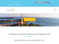 Frontpage screenshot for site: Brodske ekskurzije - Brodski izleti Hrvatska - Splitska turistička agencija (http://adriaticatransfer.com)
