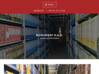 Frontpage screenshot for site: Monument d.o.o. (http://monumentarhiv.com)