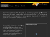 Frontpage screenshot for site: Arh Projekt (http://www.arhprojekt.com)